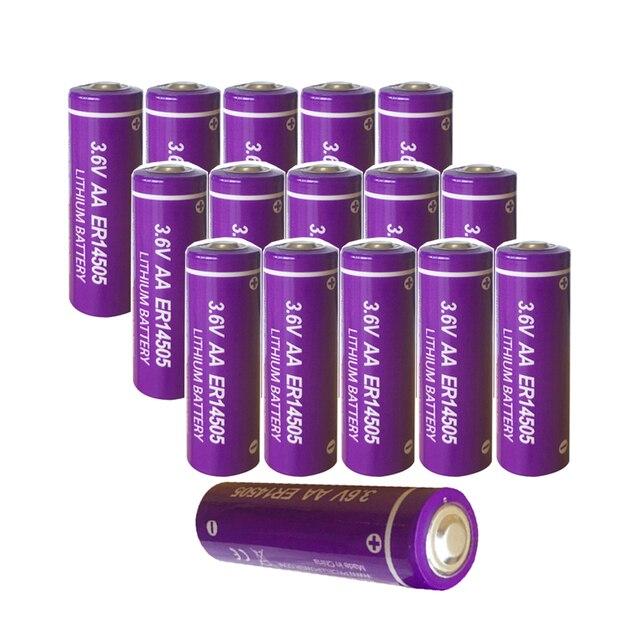 16PCS PKCELL ER14505 3.6V 2400mah aa battery lithium primary batteries