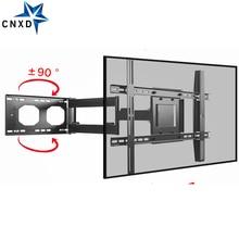 رف لتثبيت التليفزيون على الحائط مزود بحركة كاملة دوارة بزاوية 90 درجة لإمالة معظم التلفاز 32 70 بوصة 176lbs Max VESA 700*400