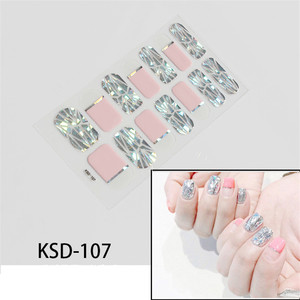 Image 5 - 2019 Korea Designed Full Wraps Shiny Nail Art Sticker Decals Multicolor Nail Stickers Strips DIY Salon Manicure Drop Ship