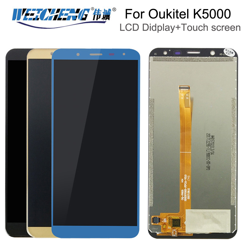 WEICHENG For <font><b>Oukitel</b></font> <font><b>K5000</b></font> <font><b>LCD</b></font> Display And Touch Screen Assembly Repair Parts For <font><b>K5000</b></font> <font><b>lcd</b></font> complete Tools+Adhesive image