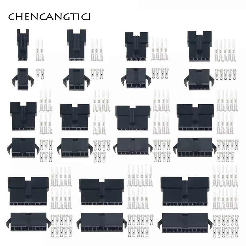 10/20 Sets SM 2/3/4/5/6/7/8/9/10/11/12 Pin 2.54 Pitch Female Male Wire Connectors Housing With Terminals SM-2P SM-2R JST SM2.54
