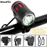 WasaFire 2000lm XM-L2 LED Bike Light Bicycle Front Lights MTB Headlight Night Cycling Head Lamp + 18650 Battery Pack+Charger