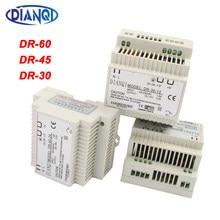 Dianqi DR-60W 30W 45W 12V 24V 15V 48V Din Rail Alimentazione Elettrica di Commutazione Ac -Dc Driver Regolatore di Tensione di Alimentazione Suply Dr-60-12