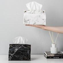 Шикарный чехол для салфеток из искусственной кожи с мраморным