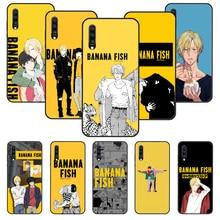 Capa de telefone para samsung galaxy a 50 51 71 70 7 5 10 20 30 40 41 21 s e preto capa coque tpu hoesjes luxo anime banana peixe