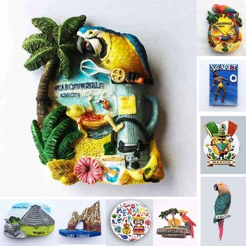 Mexico CANCUN Tourist Souvenirs Fridge Magnets Margaritaville Chichen Itza Magnetic Refrigerator Stickers Home Decoration Gifts germany fridge magnets tourism souvenir munich home cuckoo clock schwarzwald magnetic refrigerator stickers home decoration gift