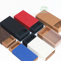 Colorful Kraft Paper Drawer Boxes Wedding Party Candy Gift Box for Handmade Soap Craft Jewel Packaging Box 100pcs/lot
