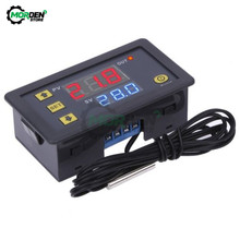 W3230 W3001 DC 12V 24V AC110V 220V cyfrowy termostat ledowy regulator temperatury termoregulator do kontroli grzania/chłodzenia