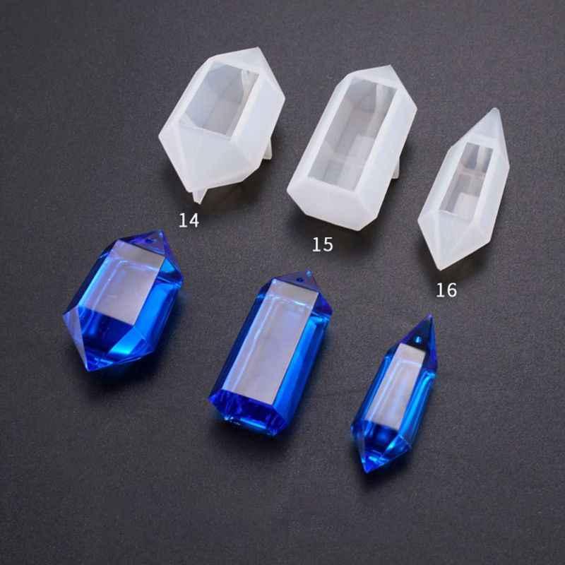 2019 لينة كريستال UV الايبوكسي قالب لتقوم بها بنفسك قلادة قالب أدوات المجوهرات قلادة الديكور سيليكون قوالب لصنع المجوهرات الراتنج
