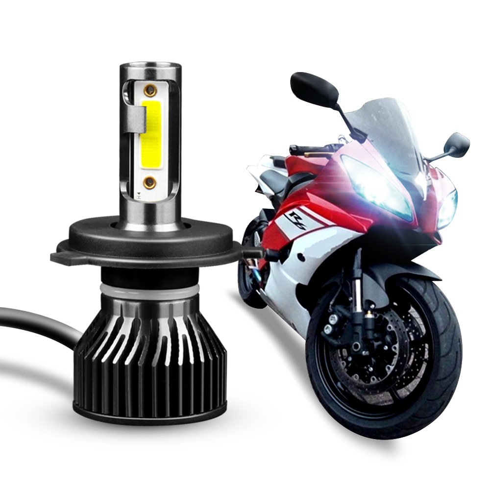 1PC Motorcycle Headlight LED H4 H7 H11 H1 Lamp Fog Lights Led Bulbs Front Light Headlamp for Moto Spotlights White 6000K