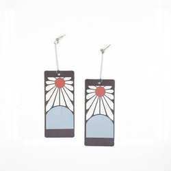 Kimetsu no Yaiba cosplay earrings new pattern pvc earring for anime fans cosplay accessory tanjiro earrings