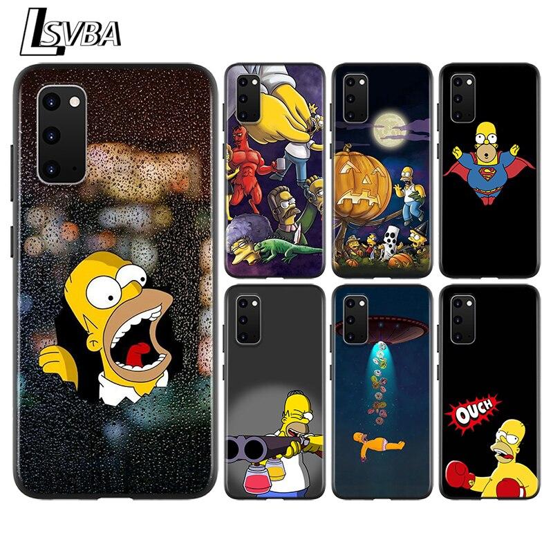 Bart Simpson Funny Cartoon Anti-Fall Back Cover For Samsung Galaxy S20 Ultra Plus A01 A11 A21 A31 A41 A51 A71 A91 Phone Case