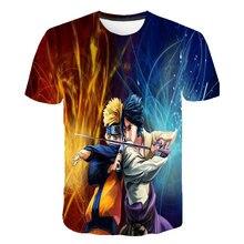 Kinderen T-shirt Anime Naruto Kakashi T-shirt Jongen Meisje 3D T-shirt Naruto Cosplay Sweatshirts Kakashi Action Figure Tee Shirts