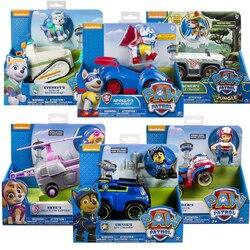 Подлинный Игрушечный Набор Paw Patrol игрушечный автомобиль Эверест Аполлон трекер Райдер Скай прокрутка фигурка аниме модель детские игрушки