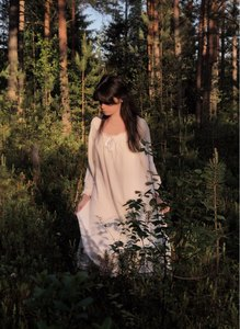 Image 5 - White Nightgown Sleepwear Lady Spring Autumn Long Sleeve Nightdress Loose Women Princess Nightgowns Comfortable