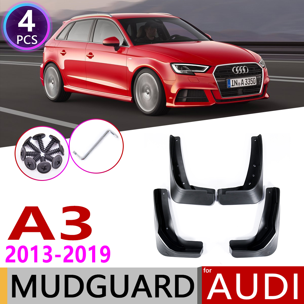 Car Mudflap for Audi A3 Sportback Hatch 2013~2019 Fender Mud Guard Splash Flaps Mudguards Accessories 2014 2015 2016 2017 2018 image