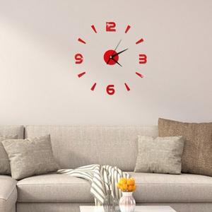 Image 5 - 2019 New 3D Wall Clock Mirror Wall Stickers Fashion Living Room Quartz Watch DIY Home Decoration Clocks Sticker reloj de pared
