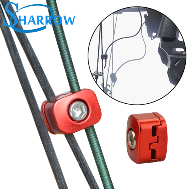 2PCS Archery Metal alloy Drop Away Arrow Rest Buckle Clip Cable Fastener Clamp Accessories For Compound Bow Hunting Shooting 1
