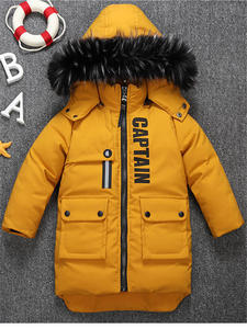 Clothing Padded Coat Down-Jacket Baby Winter Cotton Warm Children's New The Boy Big Long