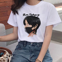 Kugelsichere Jugend League Drucken T-Shirt Ms. Korea Harajuku JIN SUGA J HOFFEN JIMIN V JUNGKOOK Cartoon Mädchen Top T-Shirt(China)