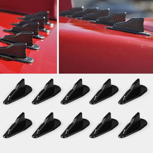 Spoiler-Wing-Kit Vortex-Generator Shark-Fins Evo-Style 10--Universal Roof Black Pp-Material
