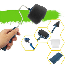 Paint Runner Pro by renovate Roller Brush Handle Tool Flocked Edger Wall Paint Roller Multifunctional Wall Painting for Home