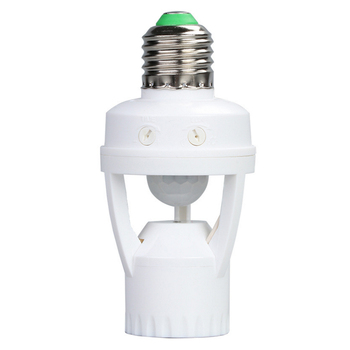 switch e27 standard ac 110v 240v led lamp bulb base infrared ir sensor automatic wall light holder socket pir motion detector AC100-240V E27 Lamp Holder Socket with PIR Motion Sensor Ampoule LED Light Base Intelligent Light Bulb Switch