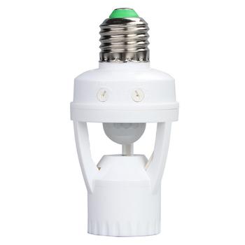 AC100-240V E27 gniazdo oprawka do lampy z czujnikiem ruchu PIR ampułka podstawka LED inteligentne światło żarówki tanie i dobre opinie RAZEND Podstawy lamp 1 Year ROHS AC100-240V E27 Lamp Holder E27 Socket with PIR Motion Sensor