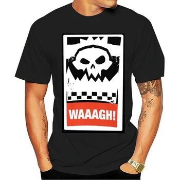 Fashion casual T shirt Ork Waaagh! Wargaming Meme 40000 40k orks ork 100% Cotton image