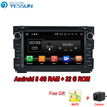 YESSUN Android 8.0 4G RAM For Kia Ceed 2007~2012 Car Navigation GPS Multimedia Player mirror link Radio Touch Screen Autoradio image