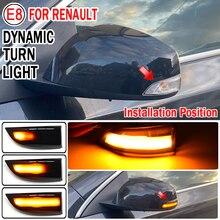 Para renault megane mk3 fluência cênica latitude safrane carro led dinâmico transformar a luz do sinal espelho lateral indicador blinker lâmpada