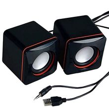Мини Портативный проводной динамик компактный стерео небольшой квадратный аудиовыход 3,5 мм ноутбук Настольный компьютер USB динамик