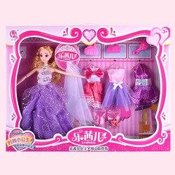 Fabricantes Venta Directa princesa vestido de novia Set muñeca reemplazable combinación de niñas juego casa juguetes 12 juntas