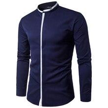 Wholesale 2020 Spring Autumn Stand Collar camisa masculina C