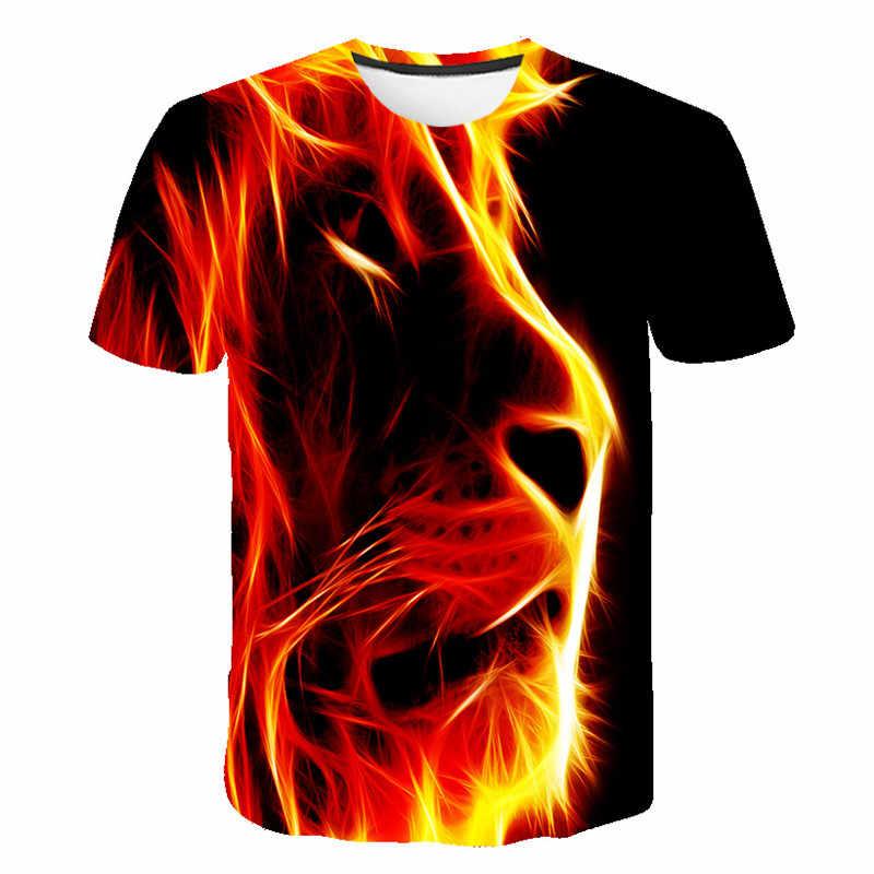 3D Cartoon Lion King Gedruckt Kurzarm T-shirt Jungen und Mädchen Mantel Kinder Kleidung T-shirt Sommer Neue Baby Kleidung T-shirt