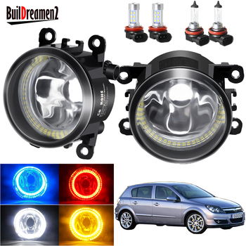 Angel Eye Fog Light Assembly For Opel Astra G H 1998-2010 Car H11 Front Bumper Fog Lamp with Halo Ring DRL 20W 12V image