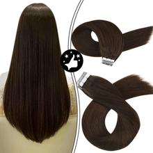 Hair-Tape Moresoo Adhesive Human-Hair Brazilian-Machine In-Extensions Remy Natural Smooth