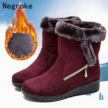 Women Boots Fluffy Plush Winter Shoes Women Snow Boots Wedge Keep Warm Ankle Winter Boot With Thicken Fur Heels Botas Mujer 2019 стоимость