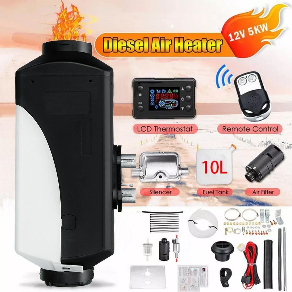 Air Heater Kit Diesel Air Cabin Heater 12V//24V 5000W Fuel Diesel Parking Pump Parking Heater with Remote Control LCD Display for Car//Pickup//BigTruck//Van//Bus//RV//Motorhome//Trailer//Boats