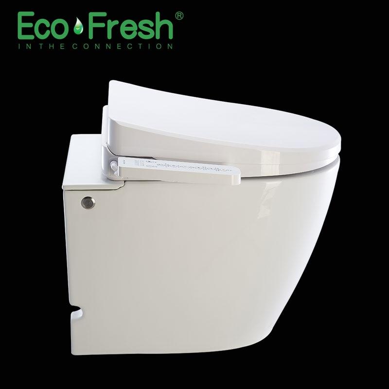 Ecofresh, умное сиденье для унитаза, u образное электрическое биде, сантехника для ванной, УФ антибактериальное автоматическое мытье, подогрев унитаза - 5