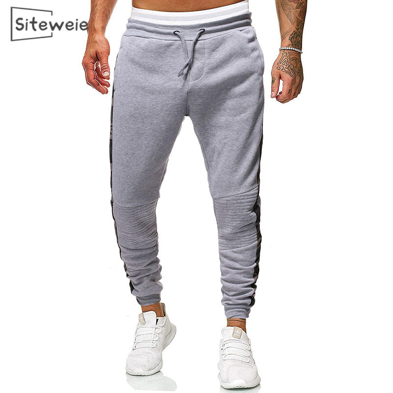 Pant Tracksuits Joggers Trousers Men SITEWEIE Camouflage Sports Casual Fashion Spliced