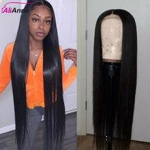 Alianna 13x6 frente do laço perucas de cabelo humano 30 Polegada peruca dianteira do laço 100% perucas de cabelo humano em linha reta peruca de fechamento do laço brasileiro 5x5