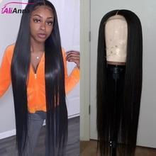 ALIANNA 13X6 парики из человеческих волос на сетке спереди 30 дюймов парик на сетке спереди 100% прямые парики из человеческих волос бразильские пар...
