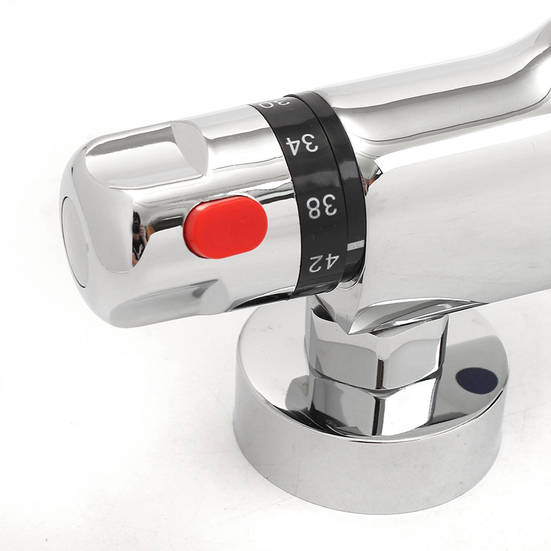 torneira wall mounted latão chuveiro válvula misturadora anti scal