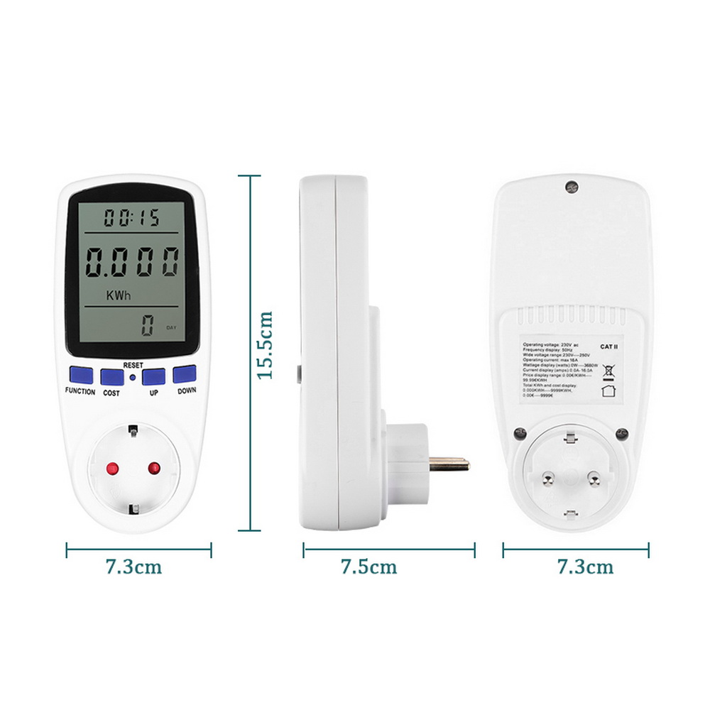 cheapest EU UK AU Plug AC  Meter Wattmeter Digital Voltage Consumption Watt Power Meter Electricity  Monitor