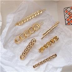 AOMU-1PC-2019-Minimalist-Metal-Hairpin-Women-Personality-Braided-Chain-Geometric-Hair-Clips-Hair-Accessories