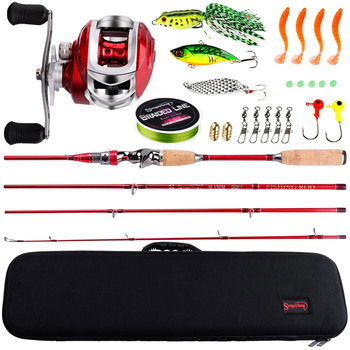 Beginner Fishing Tackle Set 2.1m Fishing Combo 4 Sections
