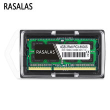 Rasalas 4 GB 2Rx8 PC3-8500S DDR3 1066Mhz SO-DIMM 4 GB 1,5V Notebook RAM 204Pin dizüstü bellek sodimm NO-ECC