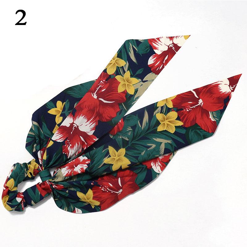 Bohème grande fleur chouchous longs banderoles arc cheveux écharpe femmes filles doux cheveux corde cravates mode cheveux accessoires chapeaux 68