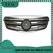 gloss black/flat black/silver/chrome Front Racing Grille For-Mercedes-For-Benz E-class W212 2009 2010 2011 2012 2013 with Emblem